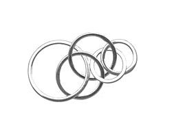 Amoracast Sterling Silver Multi Hoops 35x17mm