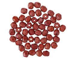 Czech Fire Polished Glass Burnt Umber Round 4mm