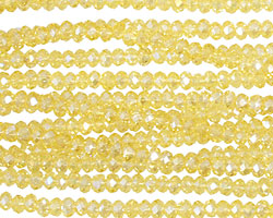 Daffodil AB Crystal Faceted Rondelle 3mm