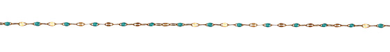 Zola Elements Green Turquoise Pressed Drawn Cable Brass Chain