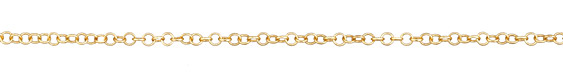 Satin Gold Finish Cable Chain, 32ft Spool
