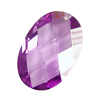 Lilac Faceted Oval 20x30mm