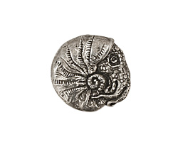 Green Girl Pewter Nautilus Button 20mm