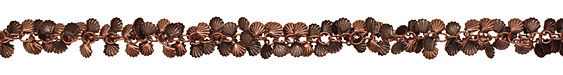 Antique Copper (plated) Sea Shell Chain