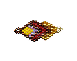 Sunset Hand Woven Double Diamond 28x13mm