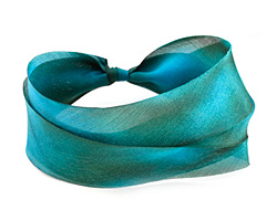 Copper Patina Hand Dyed 100% Silk Ribbon 1""