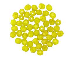 Czech Fire Polished Glass Chartreuse Round 4mm