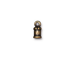 TierraCast Antique Brass (plated) Palace 2mm Cord End 11x5mm