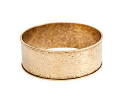 "Nunn Design Antique Gold (plated) 1"" Channel Bangle Bracelet 70mm"