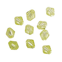 Lemon Ice Faceted Bicone 6mm