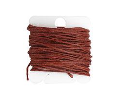 Dark Rust Irish Waxed Linen 7 ply