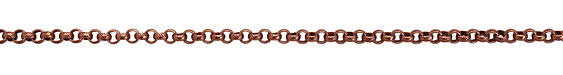 Antique Copper (plated) Textured Rollo Chain