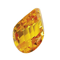 Sunshine Faceted Twisted Oval 15x17mm
