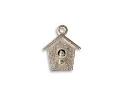 Vintaj Pewter Bird House 14x17mm