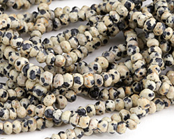 Dalmatian Jasper Faceted Rondelle 3-4mm