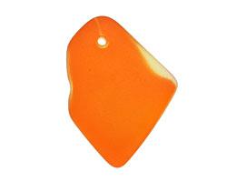 Tangerine Recycled Glass Freeform Drop 16-23x25-30mm