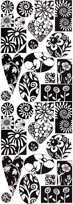 Nunn Design Graphic Floral Transfer Sheet