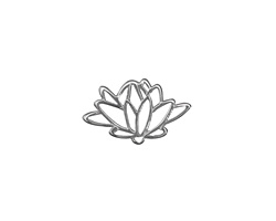 Amoracast Sterling Silver Lotus Connector 18x11mm