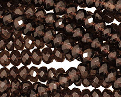 Smoky Quartz Faceted Rondelle 4x6mm