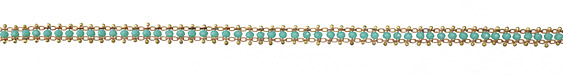 Zola Elements Turquoise Crystal Beaded Ribbon Brass Chain