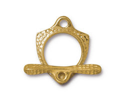 TierraCast Gold (plated) Forged Toggle Clasp 23.5x18mm, 27mm Bar