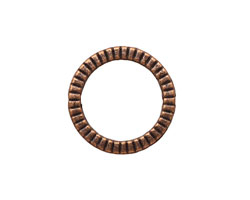 Antique Copper (plated) Lined Ring 20mm
