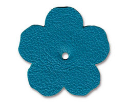 "TierraCast Turquoise Leather 1.25"" Flower 32mm"