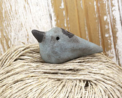 MAKUstudio Raku Patina Bird Focal Bead (piece #2) 38x19mm