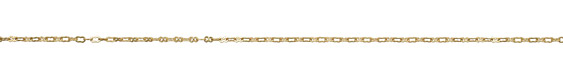 Satin Hamilton Gold (plated) Small & Tiny Peanut Chain