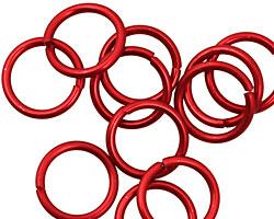 Red Anodized Aluminum Jump Ring 13mm, 16 gauge (10mm inside diameter)