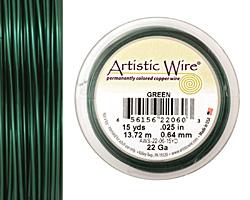 Artistic Wire Green 22 gauge, 15 yards