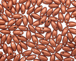 Copper (matte) Rice Droplet 3x6.5mm Seed Bead