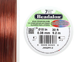 "Beadalon Pink .015"" 7 Strand Wire 30ft."