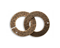 Vintaj Natural Brass Hammered Ring Clasp 32x21mm