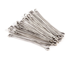 """Antique Silver (plated) Eye Pin 1.5"""", 21 gauge"""