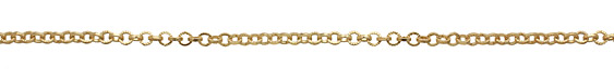Satin Hamilton Gold (plated) Textured Circular Cable Chain