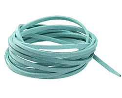 Turquoise Microsuede Flat Cord 3mm