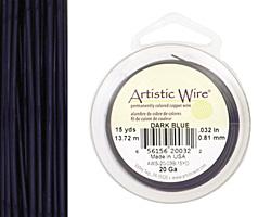 Artistic Wire Dark Blue 20 gauge, 15 yards
