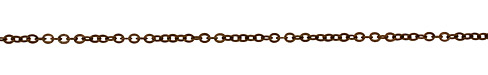 Vintaj Natural Brass Small Flat Cable Chain