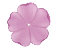 Matte Light Amethyst Lucite 5 Petal Flower 10x36mm