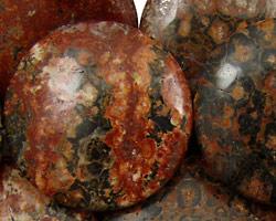 Leopardskin Jasper Puff Coin 30mm