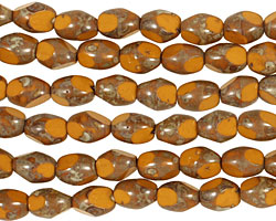 Czech Glass Sweet Potato Picasso Table Cut Rice 8x5mm