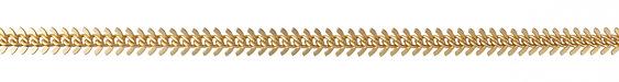 Satin Hamilton Gold (Plated) Fishbone Chain