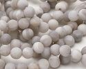 White Lace Agate (matte) Round 10-10.5mm