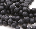 Black Onyx (matte) Faceted Round 8mm