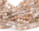 Moonstone (multi) Faceted Round 4mm