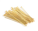 "Gold (plated) Headpin 1.5"", 24 gauge"