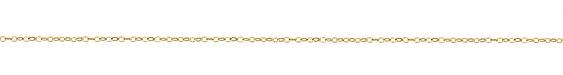 Hamilton Gold (plated) Tiny Flat Oval Chain 25' spool