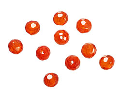 Poppy Faceted Round 4mm
