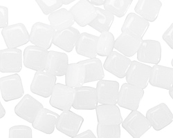 CzechMates Glass Opaque White 2-Hole Tile 6mm